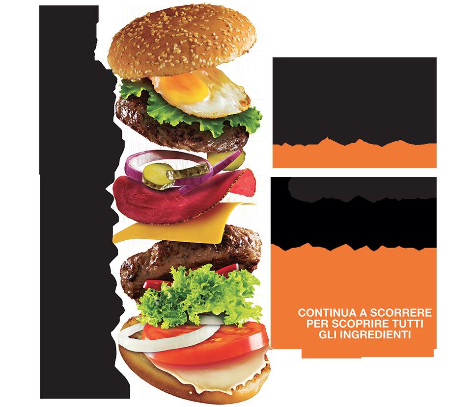 Hamburger colorato, scegli il tuo hamburger come vuoi tu